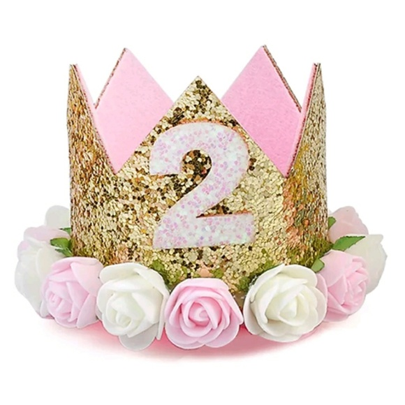 Brand New Adorable 2nd Birthday Girl Crown